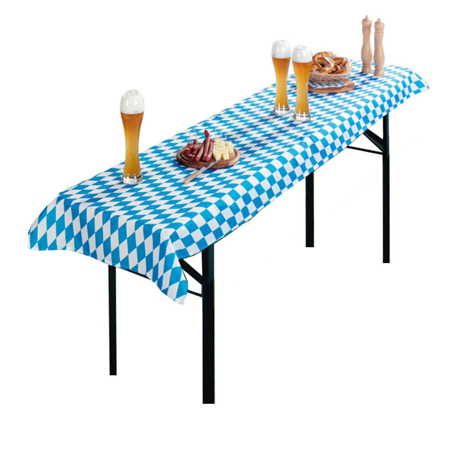 tischdecke f r bierzeltgarnitur biertisch tischtuch gartentischdecke tischl ufer ebay. Black Bedroom Furniture Sets. Home Design Ideas