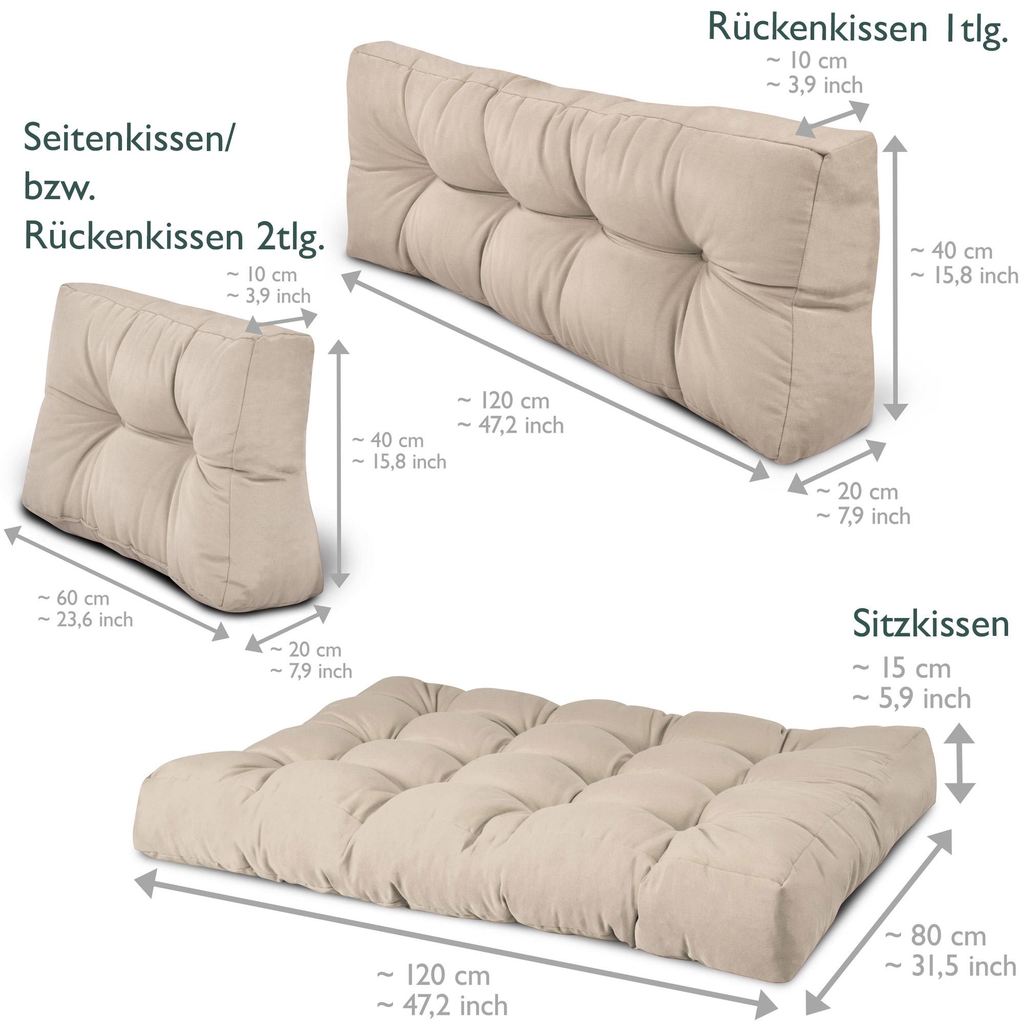 palettenkissen beige natur paletten polster. Black Bedroom Furniture Sets. Home Design Ideas