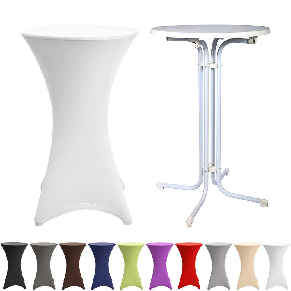 stehtisch mit husse 60 cm stretchhusse bistrotisch. Black Bedroom Furniture Sets. Home Design Ideas